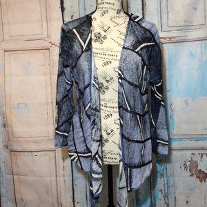 Nic + Zoe Open Cardigan Jacket Silk Blend